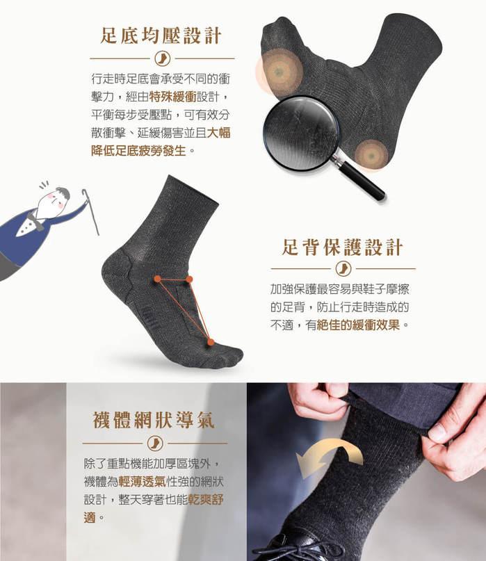 titan太肯|職場抗菌運動襪(3入)