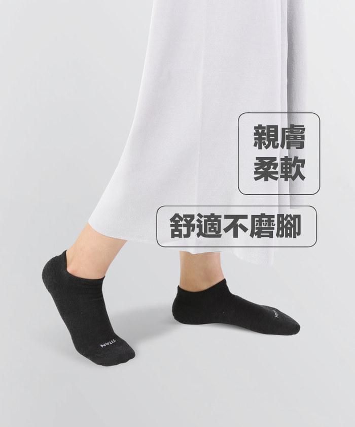 (複製)titan太肯|輕薄抗菌除臭中筒襪-藏青(3入)