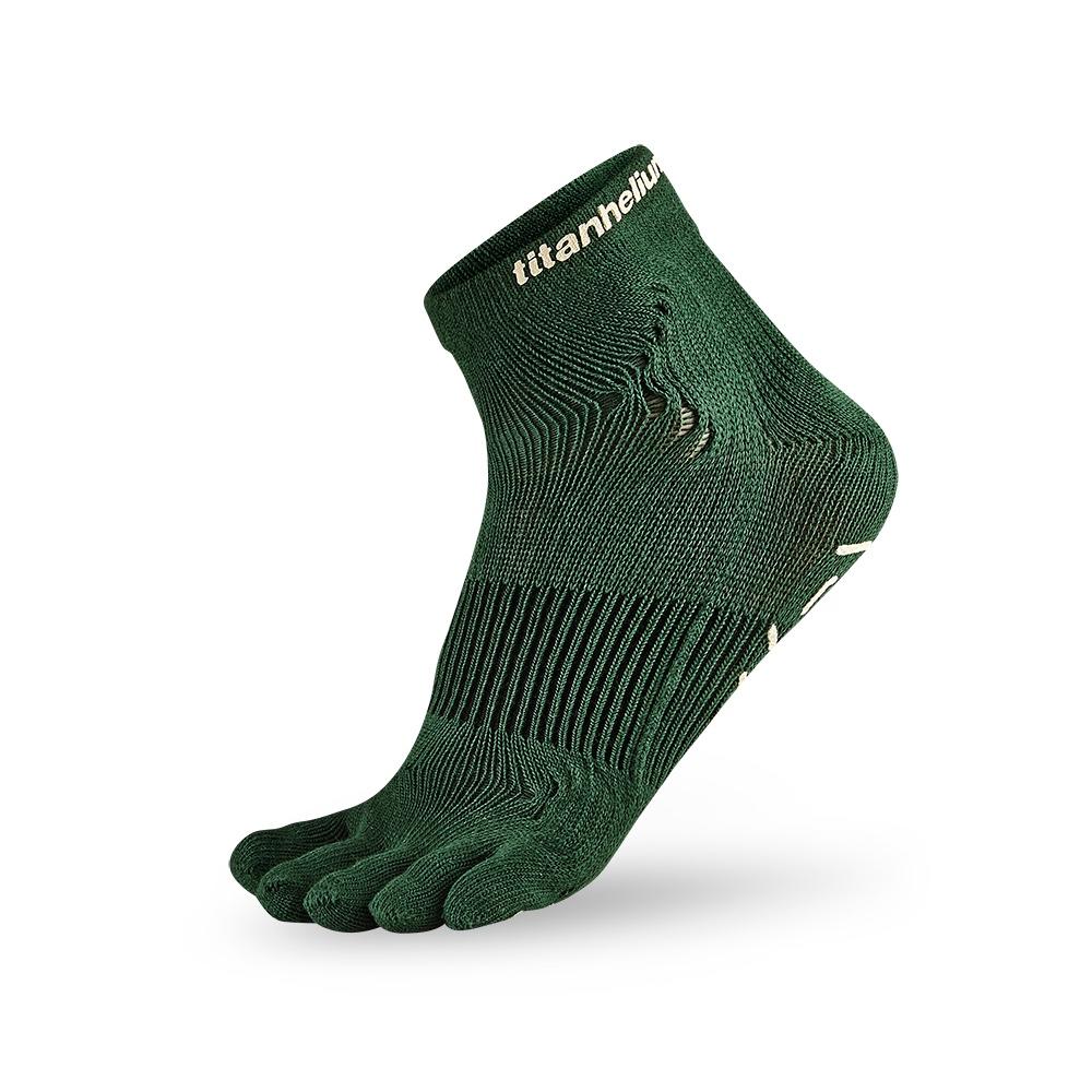 titan太肯|五趾功能訓練襪-綠(2入)