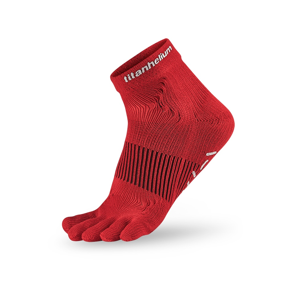 titan太肯|五趾功能訓練襪-紅(2入)