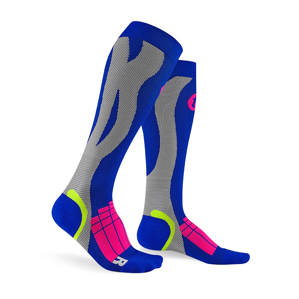 titan太肯|壓力運動襪-Elite-寶藍/淺灰色