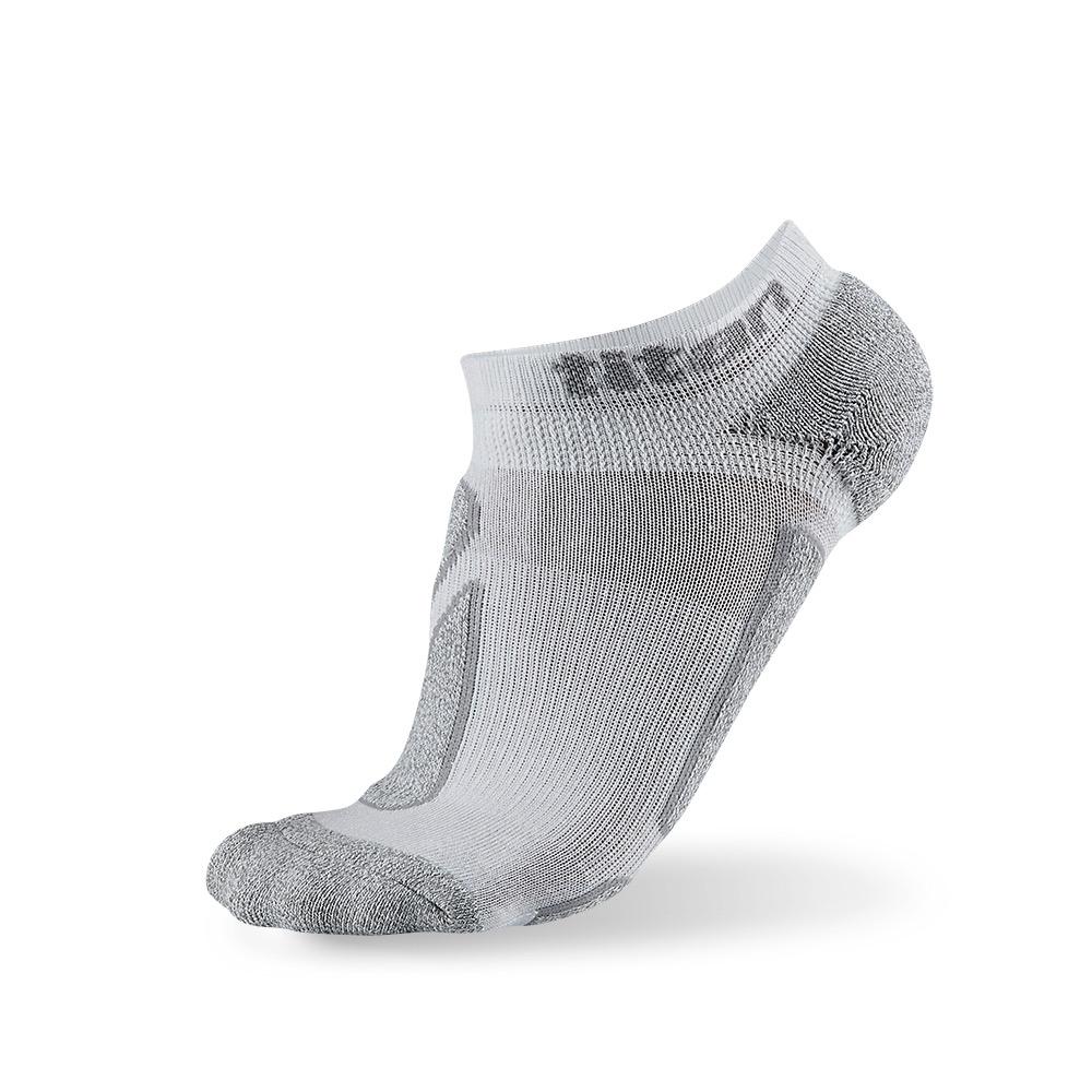 titan太肯|功能慢跑踝襪-4入(白/竹炭)
