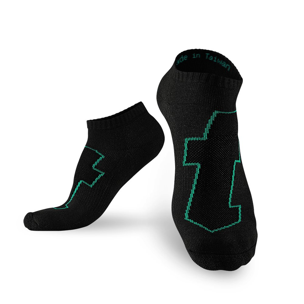 titan 太肯|生活運動襪 黑綠(5雙)