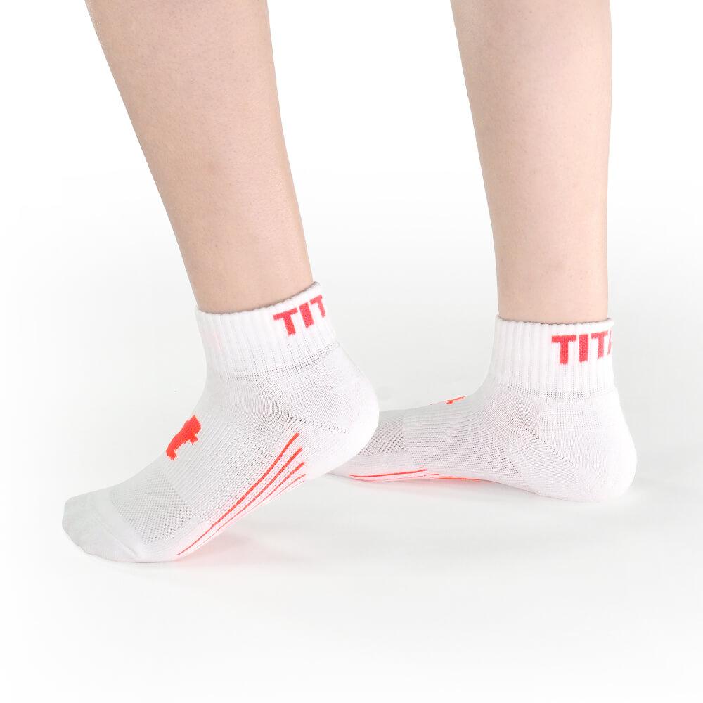 titan 太肯 舒壓生活短襪 白桃(4雙)