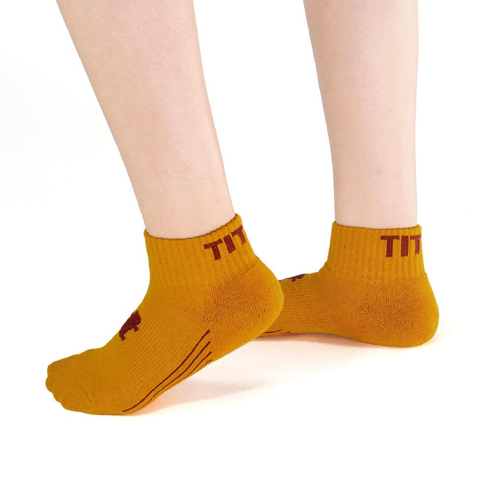 titan 太肯 舒壓生活短襪 土黃(4雙)