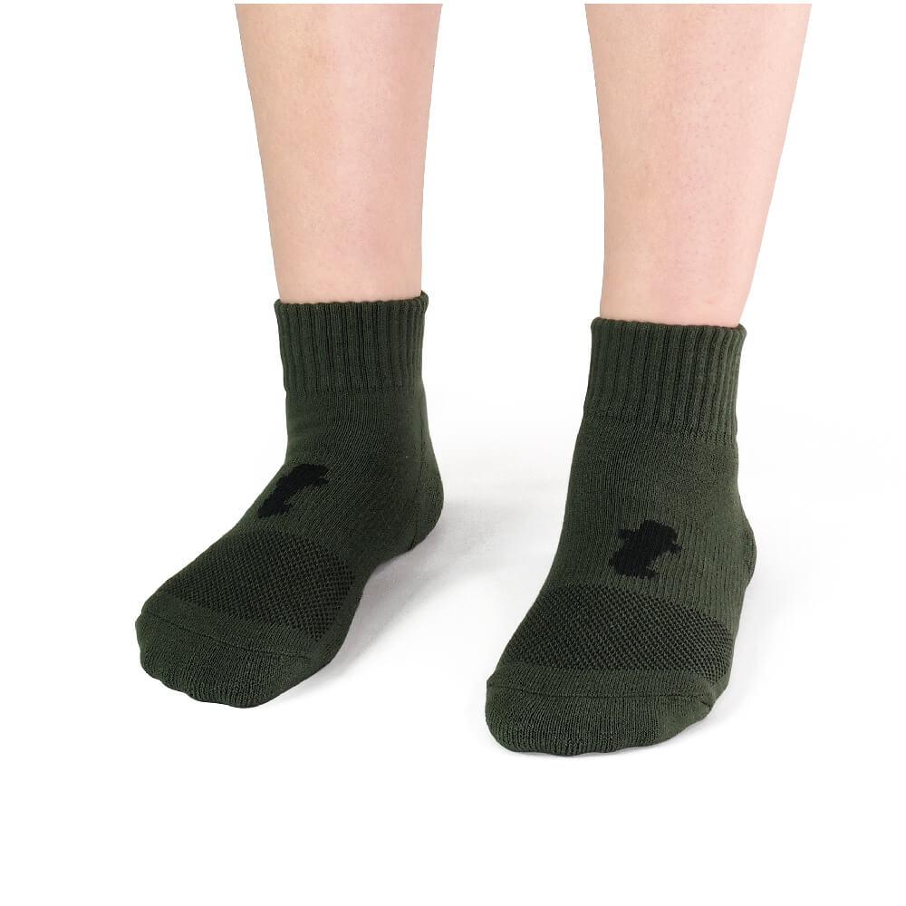 titan 太肯|舒壓生活短襪 軍綠(4雙)