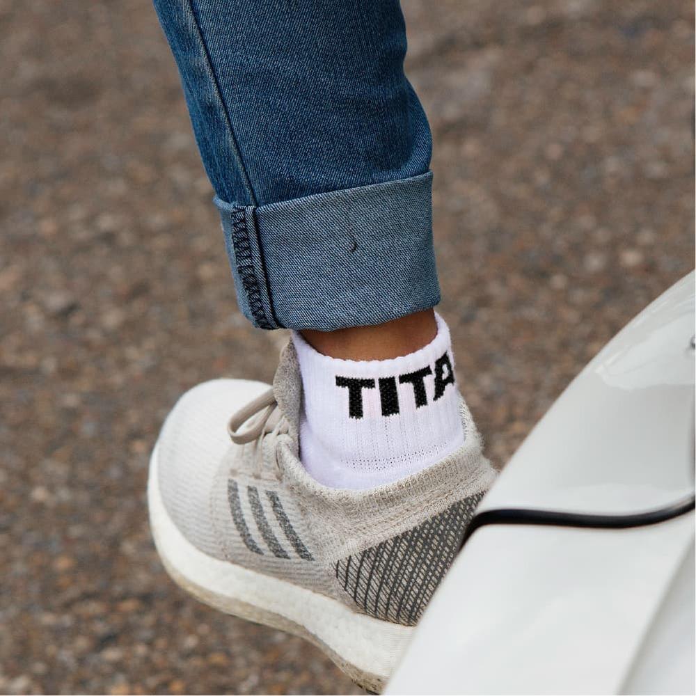 titan 太肯|舒壓生活短襪 白(4雙)