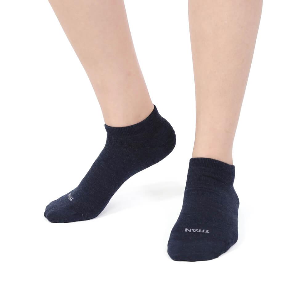 titan太肯|輕薄抗菌除臭踝襪-藏青(3入)