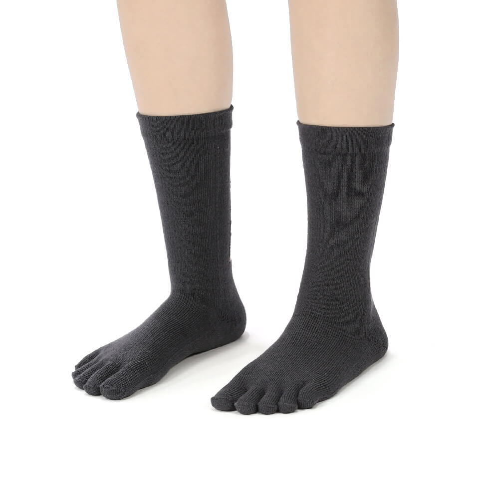 titan 太肯|五趾舒壓生活中筒襪 深灰(3雙)