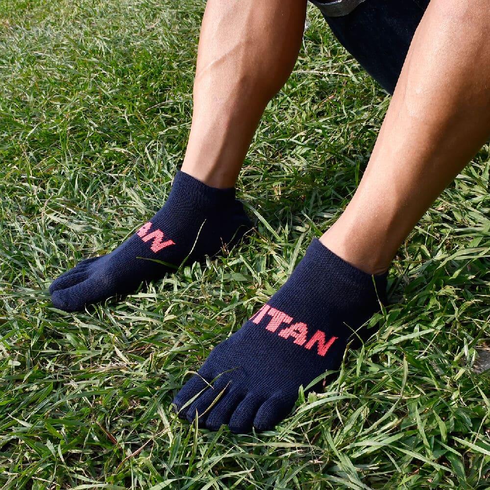 titan 太肯|五趾舒壓生活踝襪 深藍(3雙)