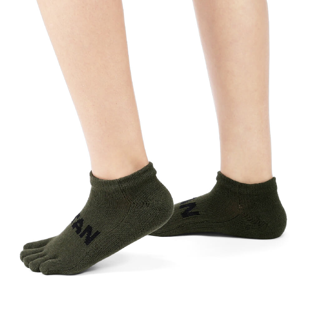 titan 太肯 五趾舒壓生活踝襪 軍綠(3雙)