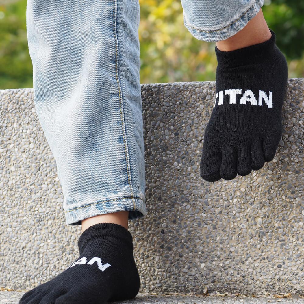 titan 太肯|五趾舒壓生活踝襪 黑(3雙)