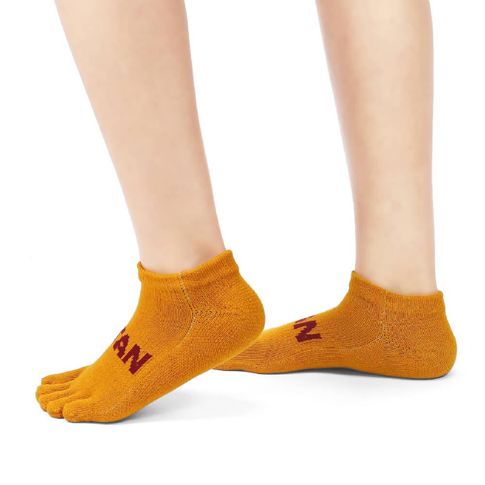 titan 太肯|五趾舒壓生活踝襪 土黃(3雙)