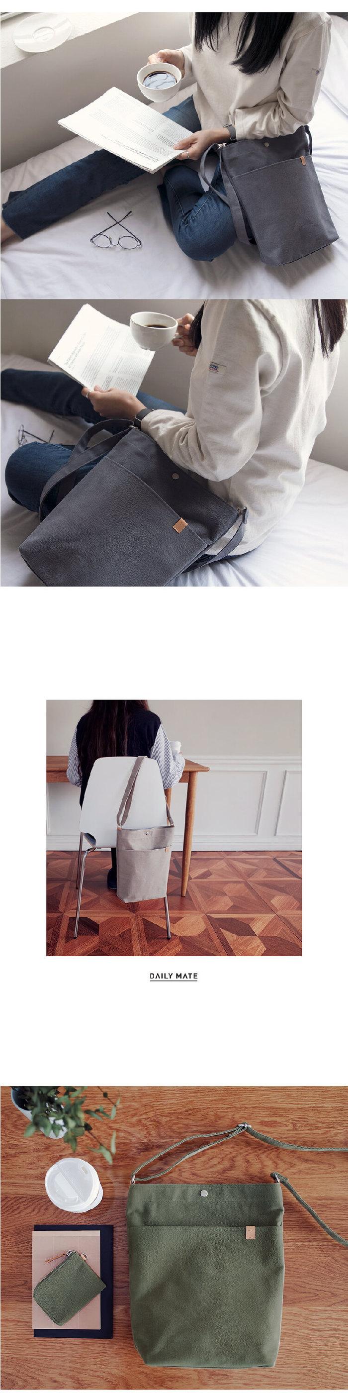 Daily mate|肩背水桶包(酒紅)