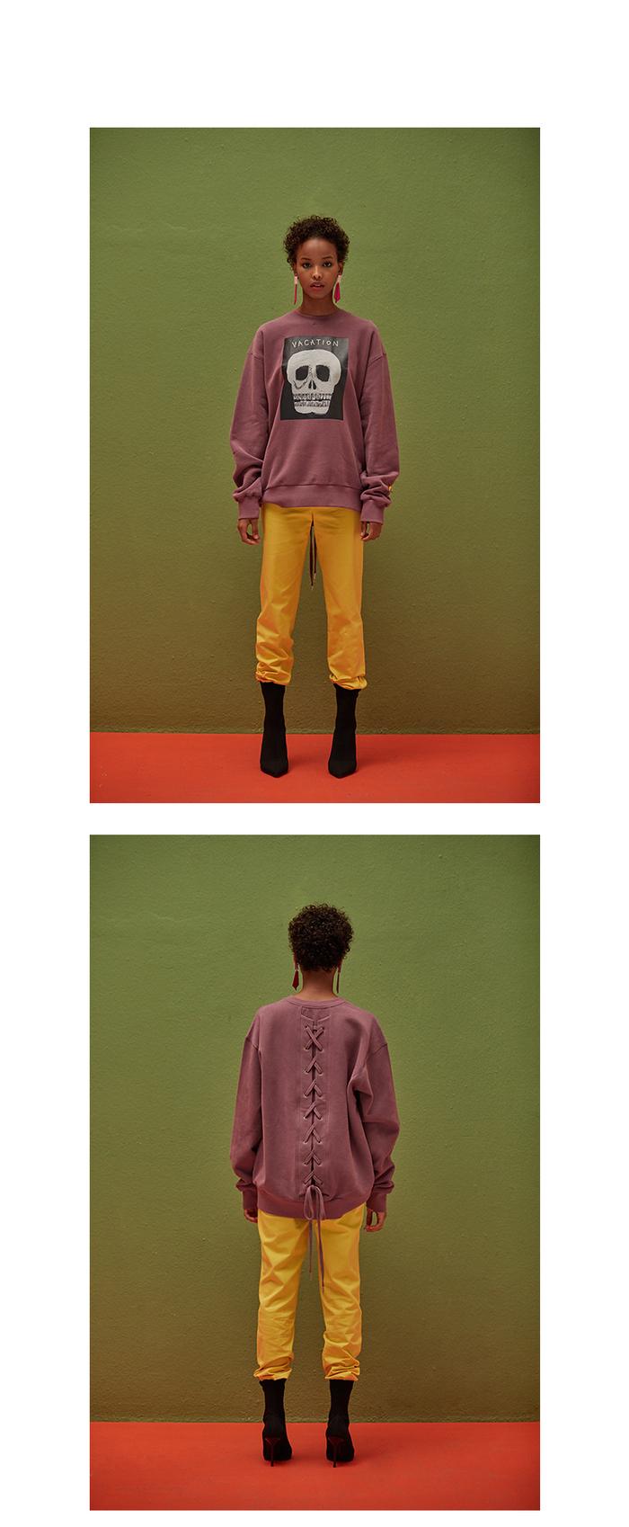 (複製)ANC1.5|HAJUNGWOO 河正宇聯名設計 少女/骷髏頭畫作帽T 0004