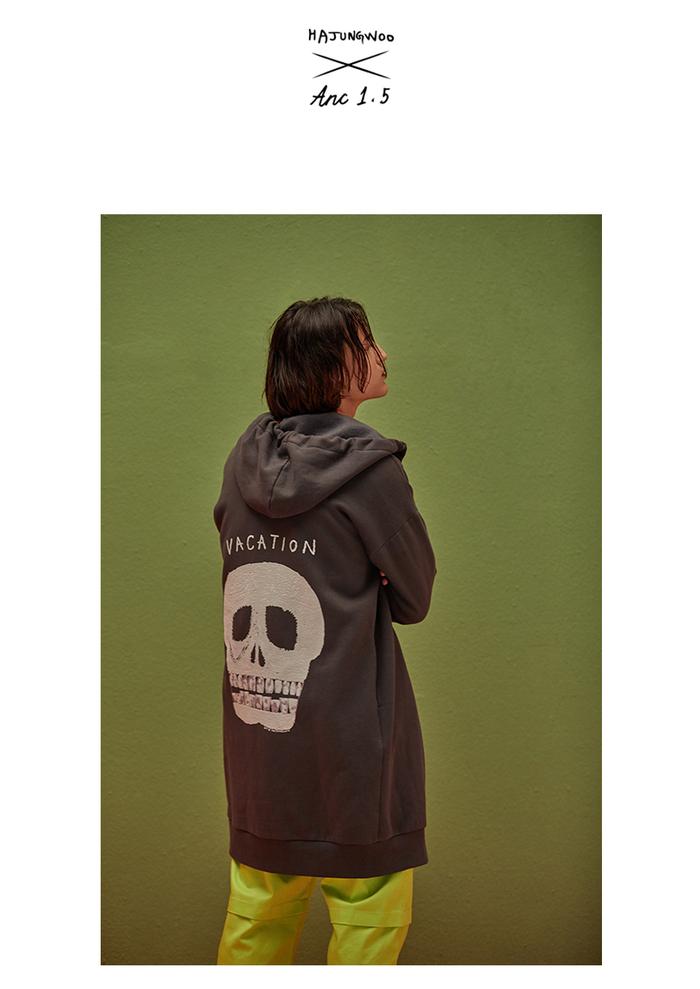 (複製)ANC1.5|HAJUNGWOO 河正宇聯名設計 骷髏頭刷毛外套 0009