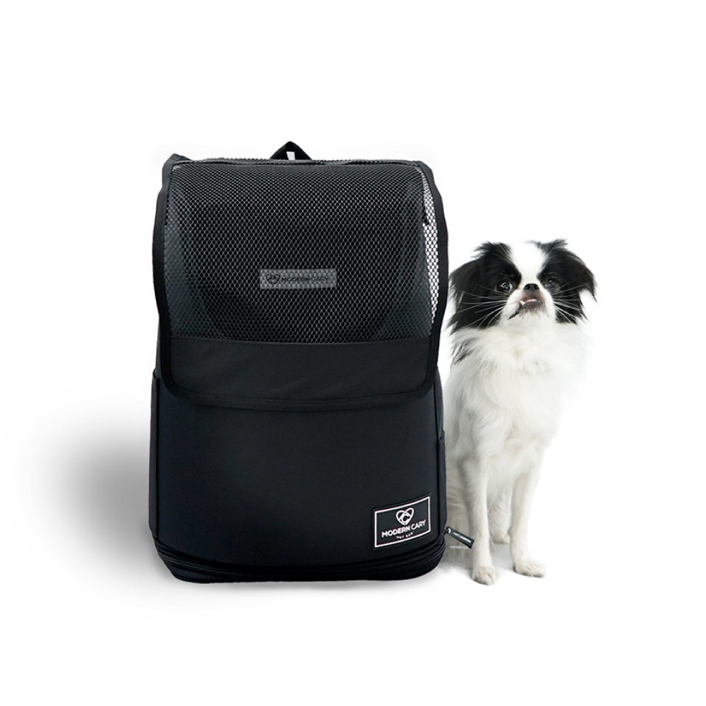 ModernCary 寵物旅行家|寵物外出背包(黑色)