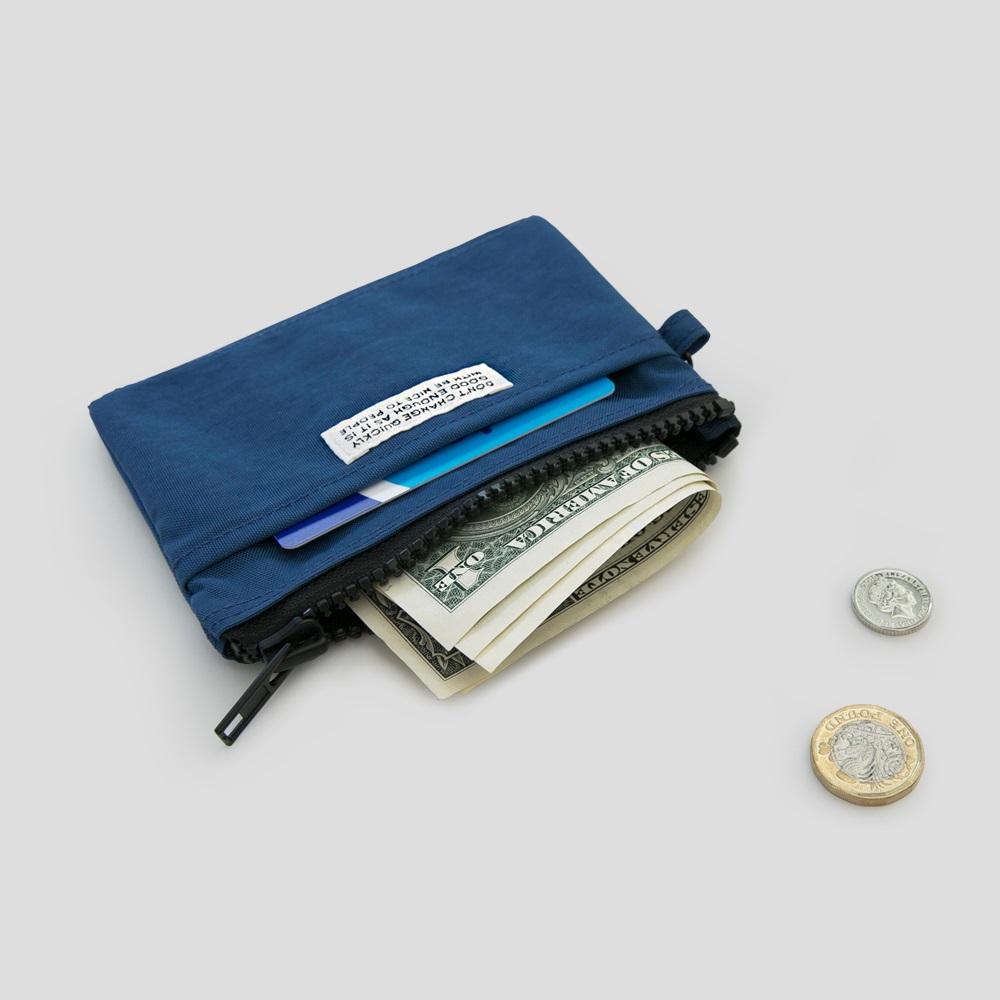 BNTP | 復古水洗尼龍萬用零錢包(附掛繩)