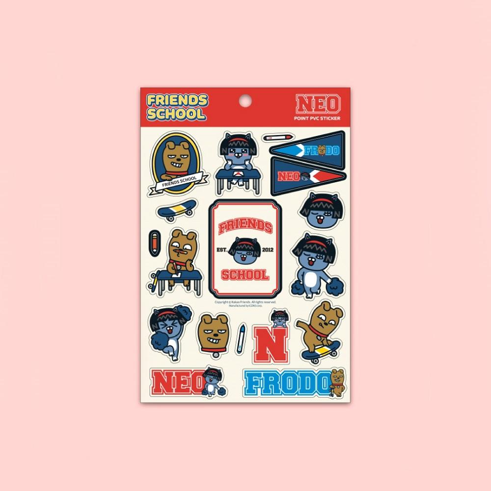 Kakao Friends|好朋友學院 立體萬用貼紙 NEO&FRODO