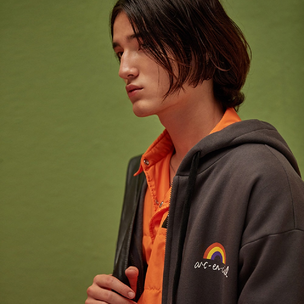 ANC1.5|HAJUNGWOO 河正宇聯名設計 骷髏頭刷毛長版外套 0010