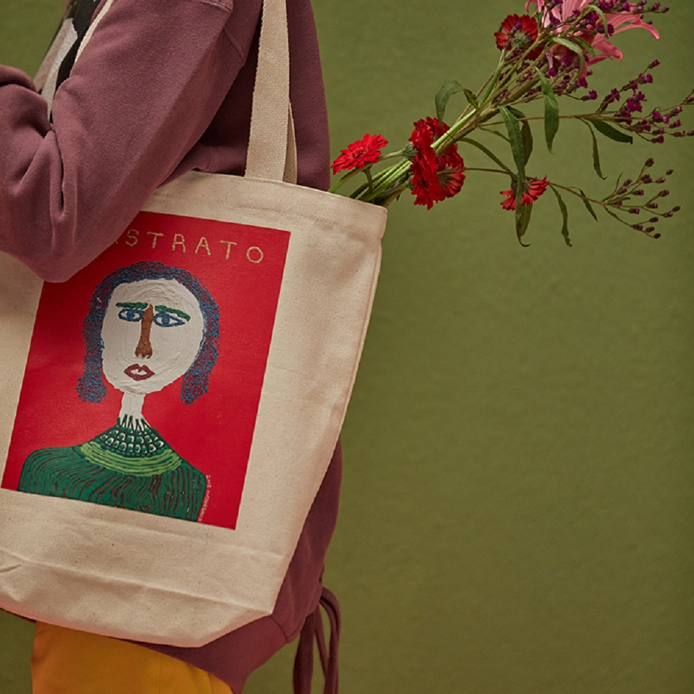 ANC1.5|HAJUNGWOO 河正宇聯名設計 少女畫像帆布包 0011
