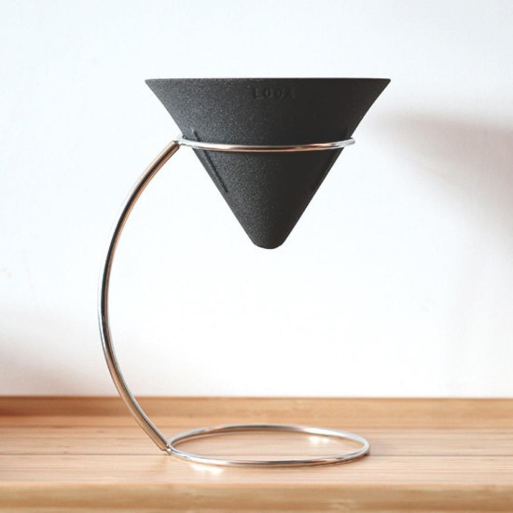 LOCA 咖啡陶瓷濾杯手沖架套組 圓錐型v號