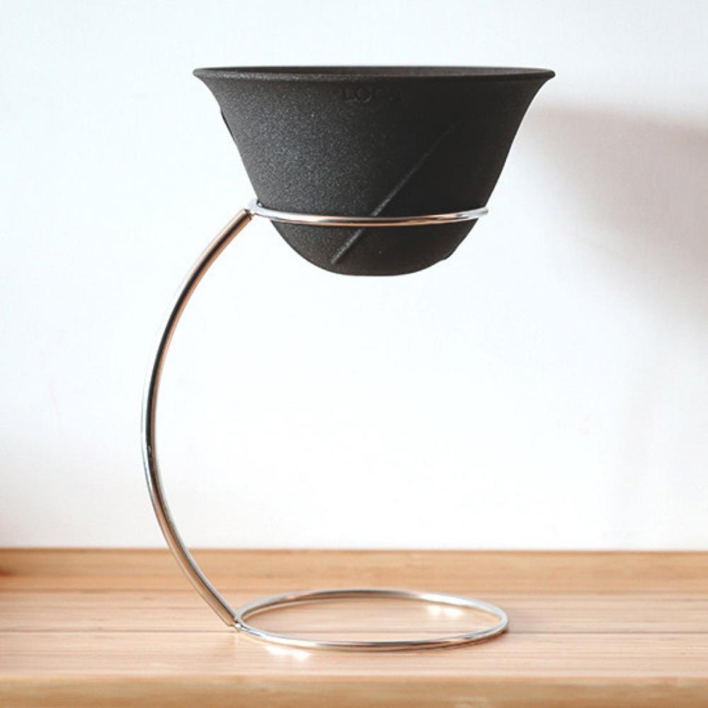 LOCA 咖啡陶瓷濾杯手沖架套組 圓弧型L號