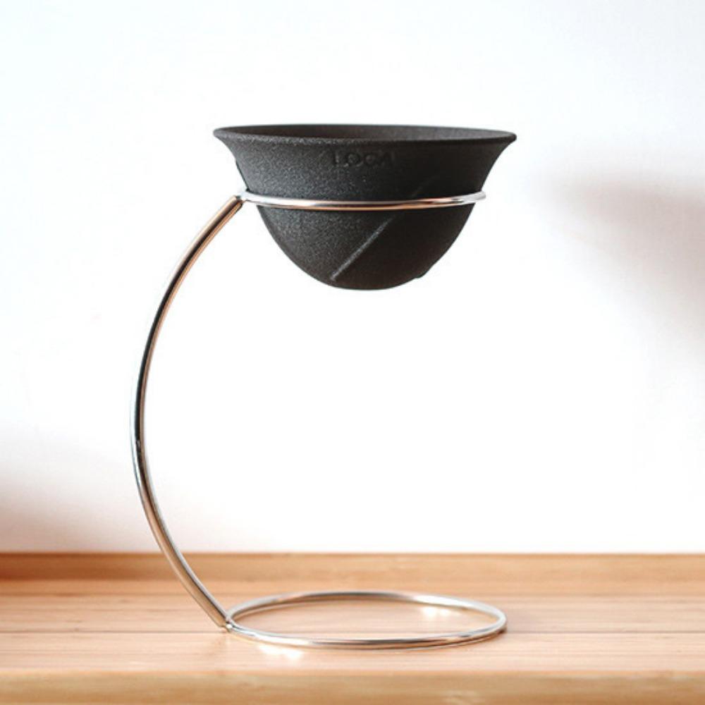 LOCA|咖啡陶瓷濾杯手沖架套組 圓弧型R號