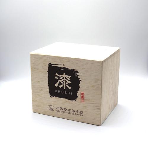 安清式   木製濾杯(漆) 紅x黑