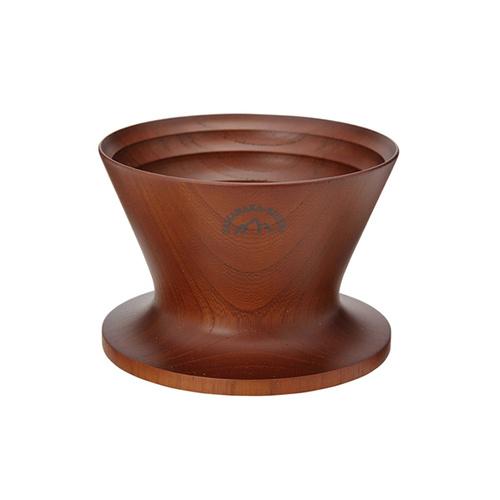 安清式 木製濾杯 咖啡色