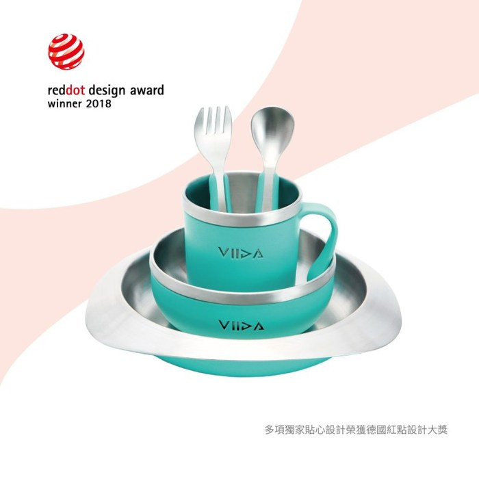 (複製)VIIDA|Soufflé 抗菌不鏽鋼餐具組 - 寶貝藍