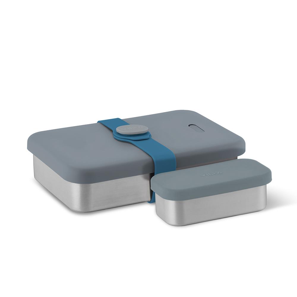 VIIDA|Morgen Kasten 316 不鏽鋼便當盒 - 藍