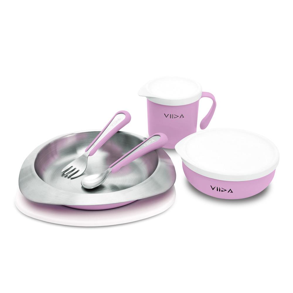 VIIDA|Soufflé 抗菌不鏽鋼餐具組 - 薰衣草紫