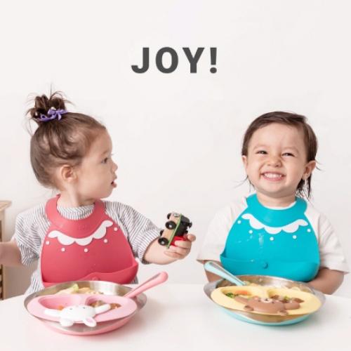 VIIDA|Joy 便攜式矽膠圍兜(療癒系) - 莓果桃