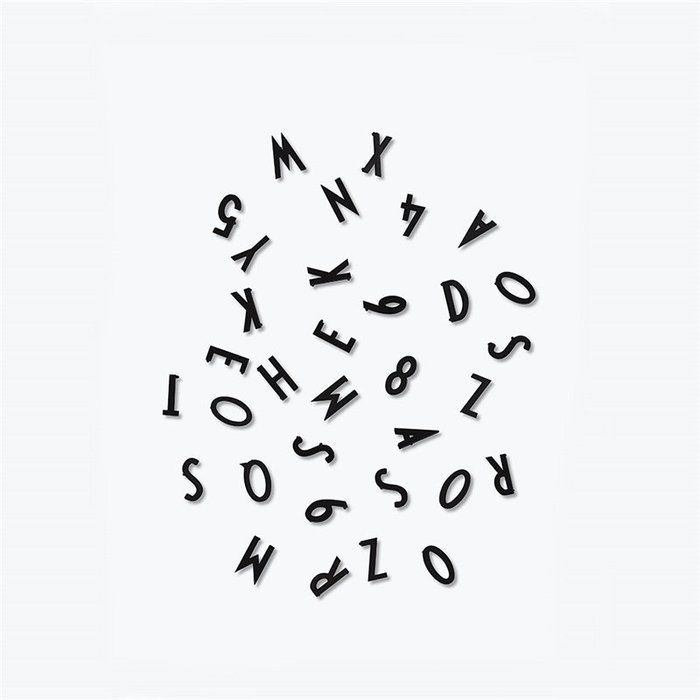 DESIGN LETTERS|留言板黑/白字母粒(單售)