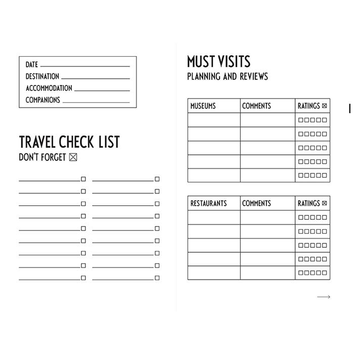 DESIGN LETTERS|旅行記事本TRAVELJOURNAL