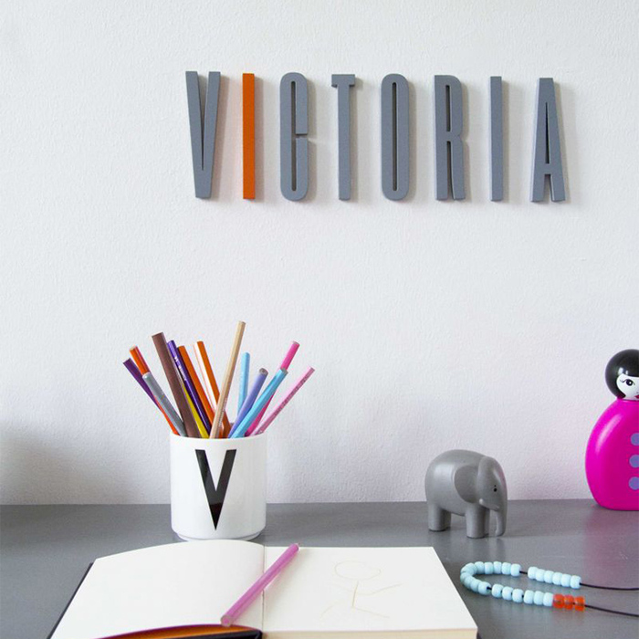 DESIGN LETTERS|灰色木字母A-Z
