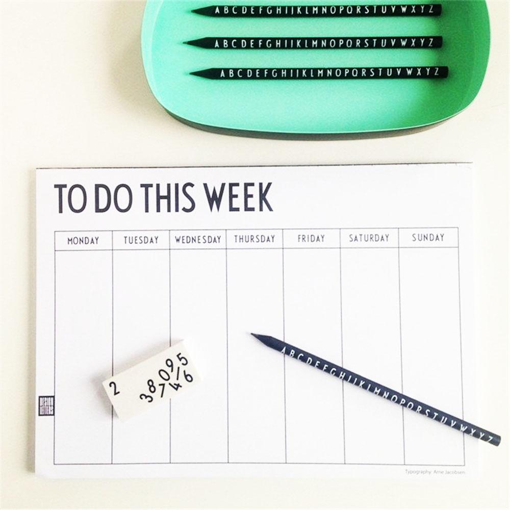 DESIGN LETTERS|週計畫本 Weekly Planner