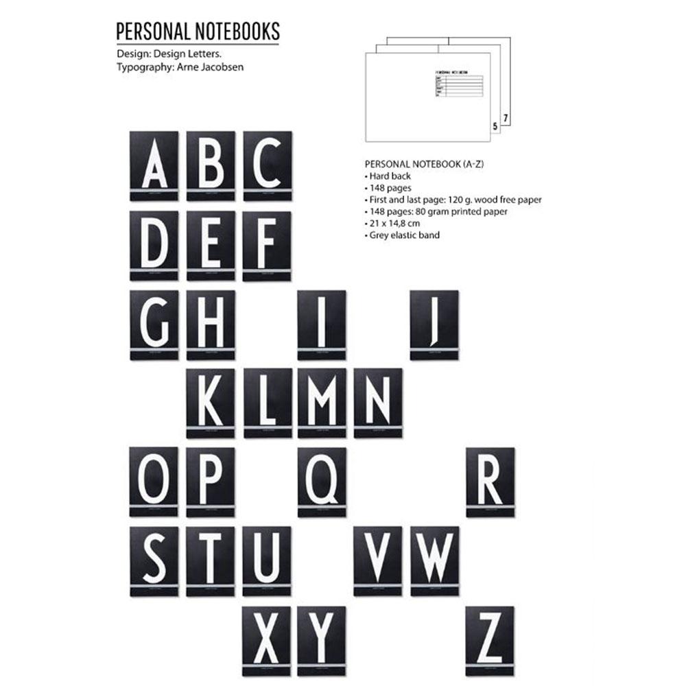DESIGN LETTERS|個人字母筆記本A~Z