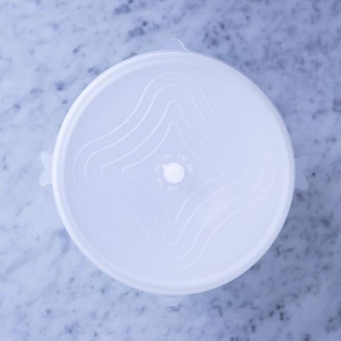 美國Unilid優你力 – 環保萬用保鮮蓋(5件組 霜降透明白)