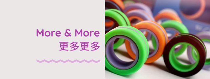 FinGears | 指尖環(外黑內藍) - 無限玩法 • 益智 • 專注 • 紓壓 • 預防失智 !