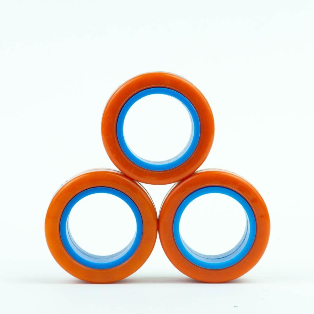 FinGears|益智紓壓指尖環(外橘內藍)