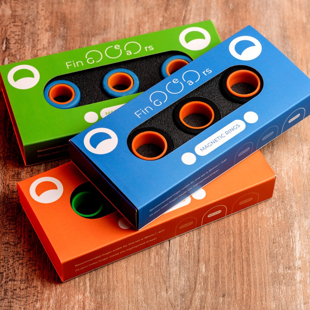 FinGears|益智紓壓指尖環 - 繽紛色彩 - 全色系6套組