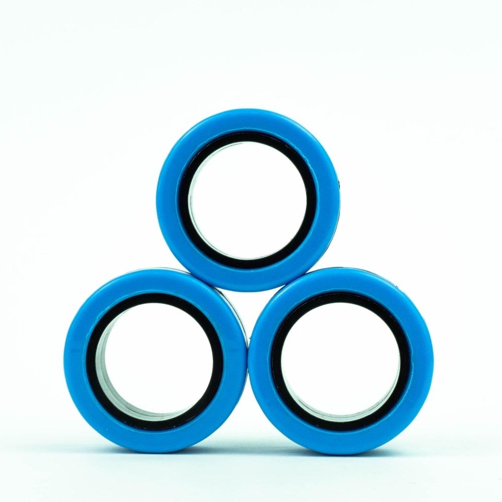 FinGears|益智紓壓指尖環(外藍內黑)