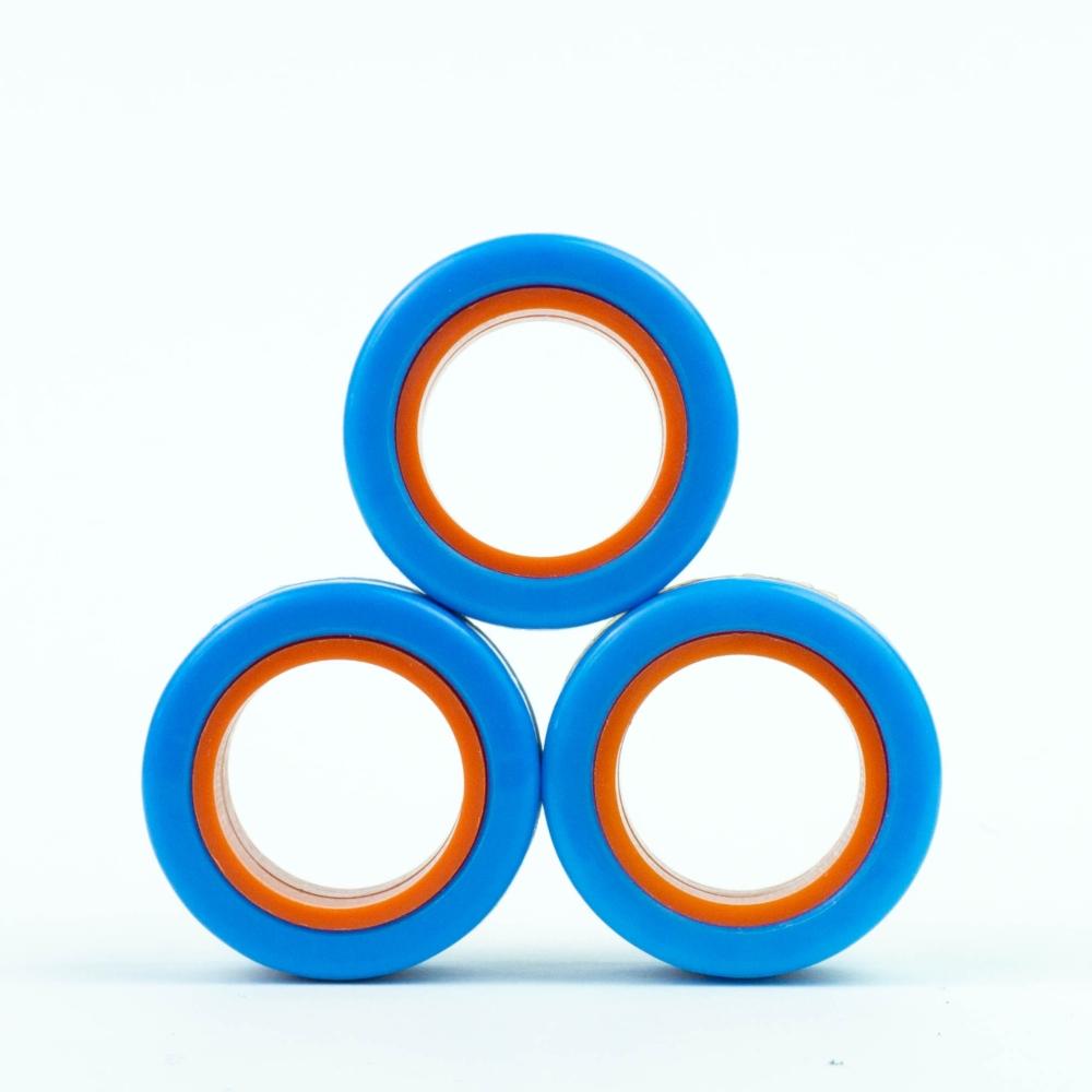FinGears|益智紓壓指尖環 (外藍內橘)
