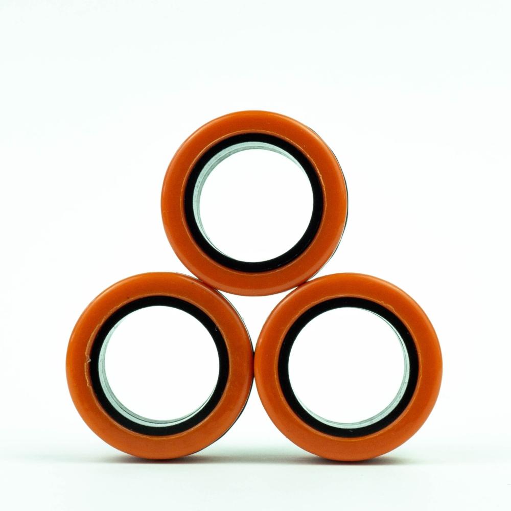 FinGears|益智紓壓指尖環(外橘內黑)