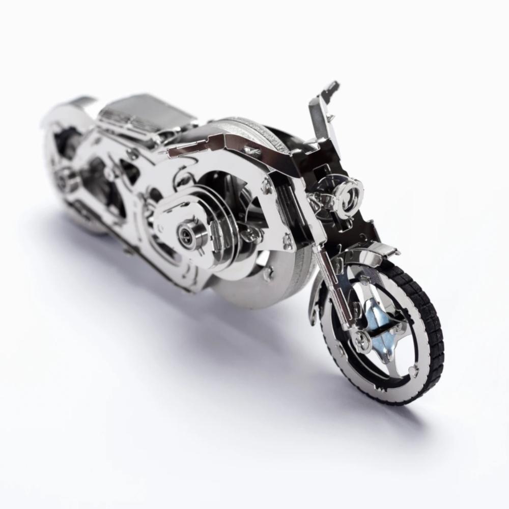 Time4Machine|高階金屬動力模型 - 亮鉻飛輪摩托車 Chrome Rider