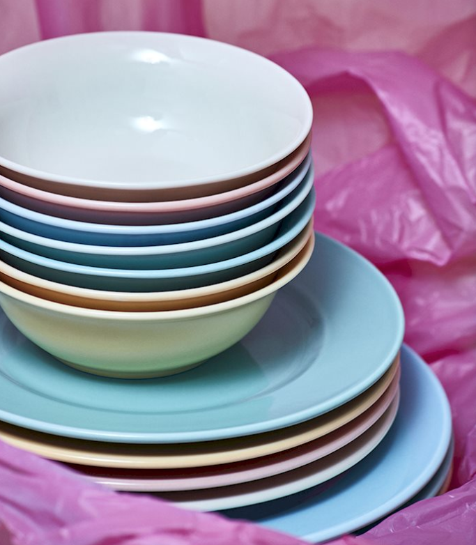 Hay - Rainbow Plate 瓷盤 / (Rose / 玫瑰粉) (M)