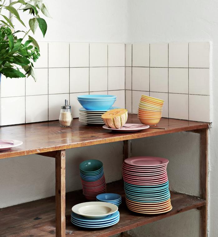 Hay - Rainbow Plate 瓷盤 (Turquoise/ 碧綠 ) (M)