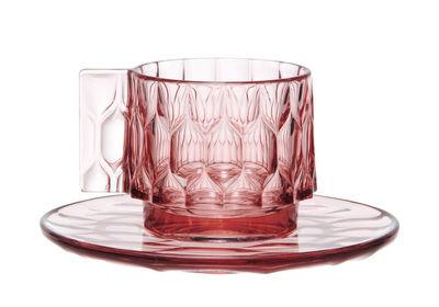 (複製)kartell|jellies coffee cup with saucer set/咖啡杯盤組 -crystal(透明)
